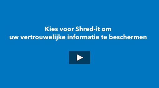 "Screencapture of Shred-it Process Video with question text ""Why choose Shred-it to protect your confidential information?"""