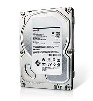 photo of computer hard drive